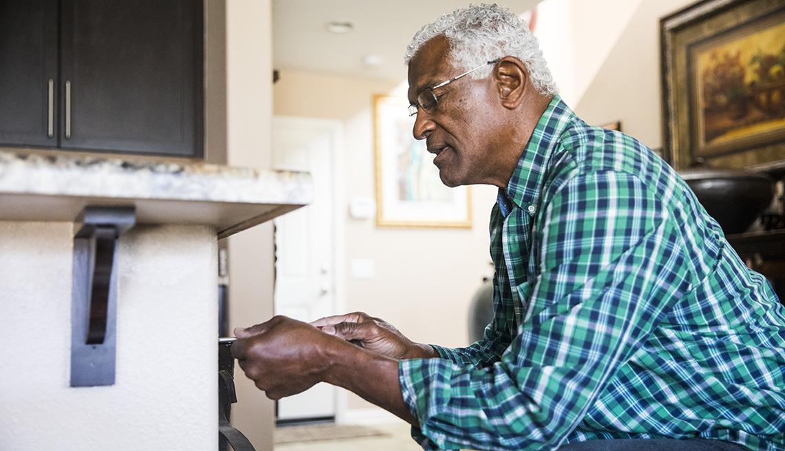 A man doing a simple home repair