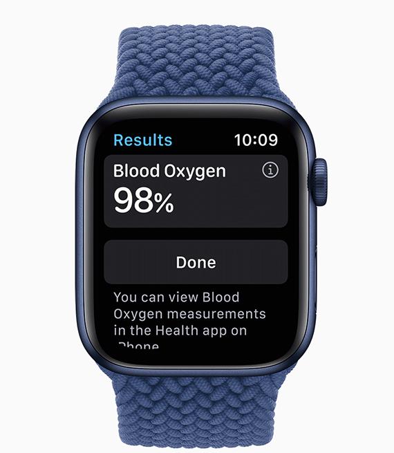 Apple Watch Series 6 - Displaying blood oxygen measurements