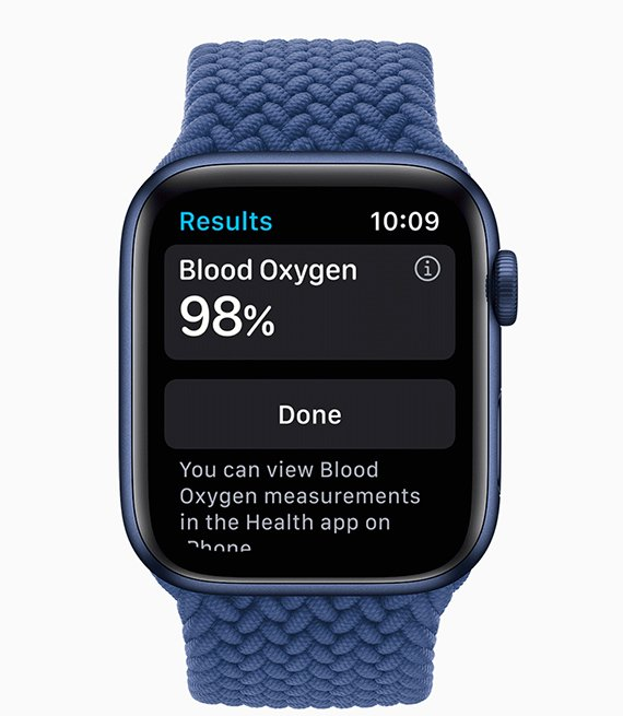 Apple Watch Series 6 - Displaying blood oxygen measurements