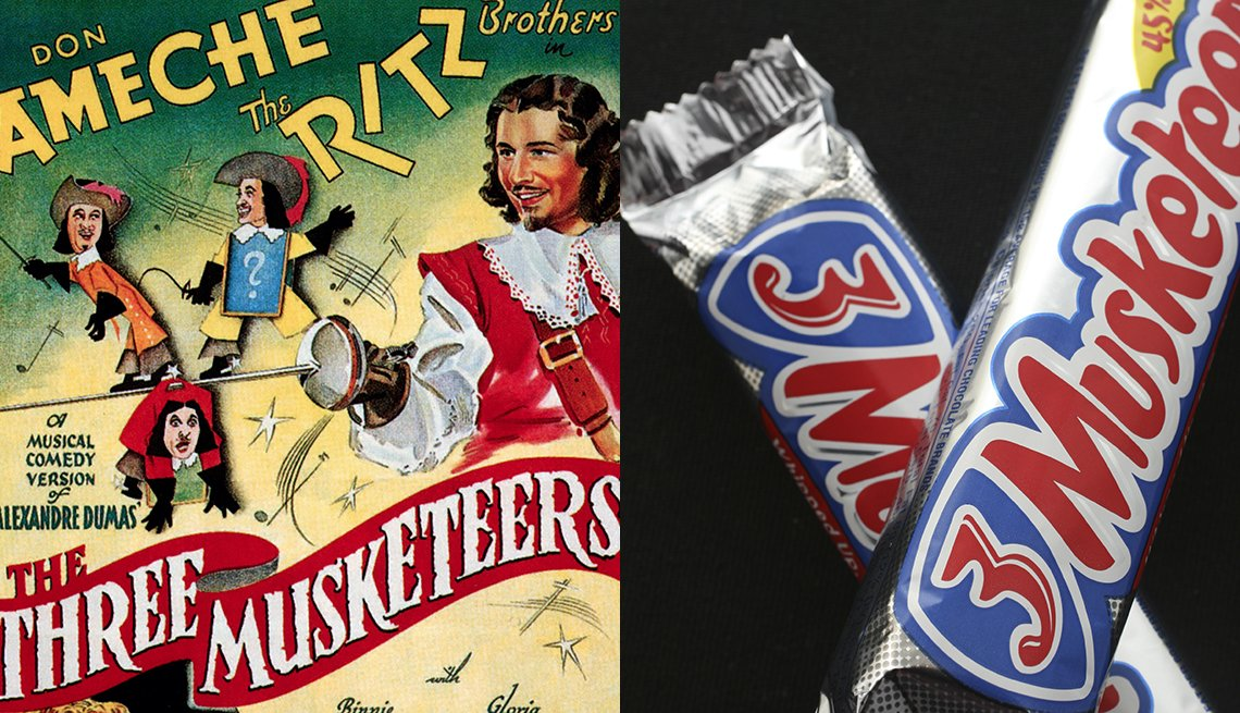item 3 of Gallery image - 3 Musketeers candy inspired by the novel
