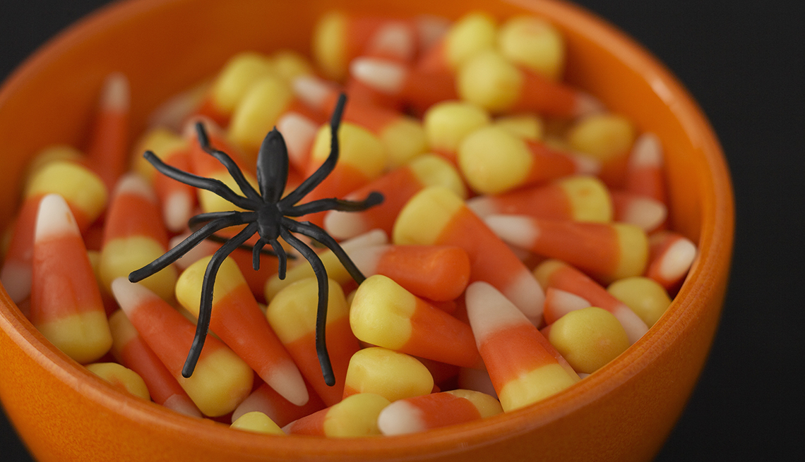 Candy corn for halloween concept