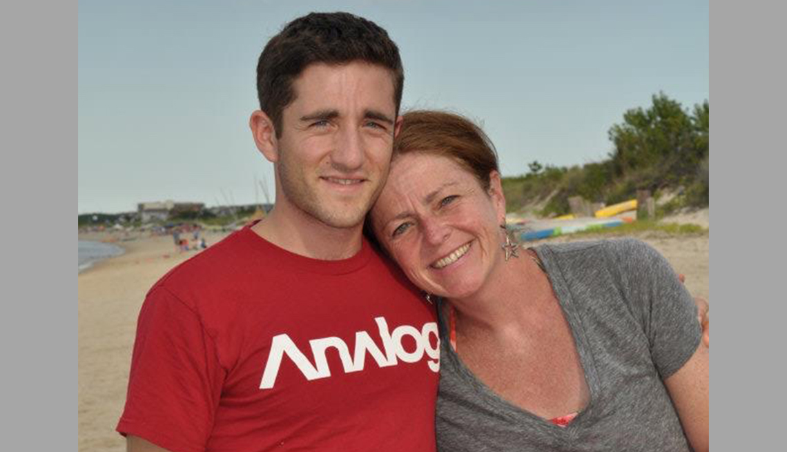 item 21 of Gallery image - Elise Seyfried with her son at the beach