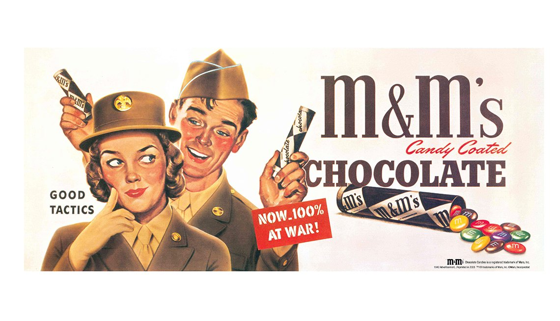 item 4 of Gallery image - M&M's candy advertisement during war