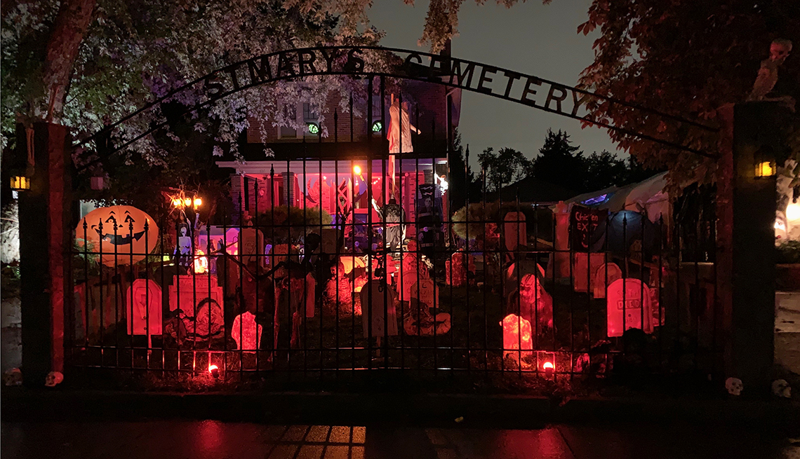 Starting in August, Nancy McDowall-Dunford began decorating her home for Halloween.