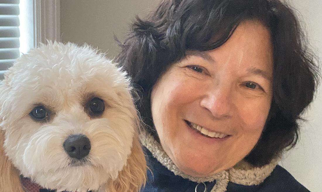 Sara Ventiera and her pet dog