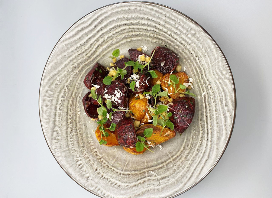 Roasted beets and veggies