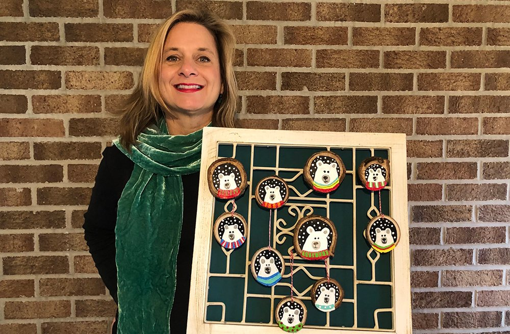 This year Sharon Johannesen decided to give out homemade ornaments instead of money.