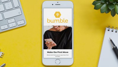 Bumble App on display on smartphone