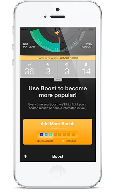 Captura de pantalla de la aplicación Zoosk