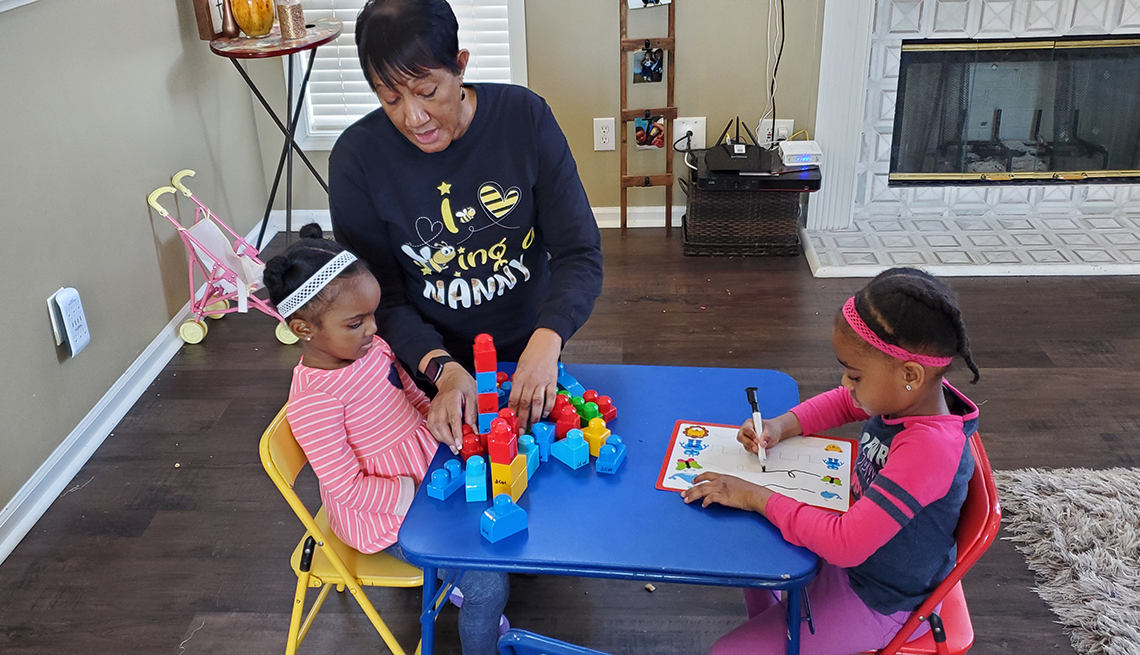 Grandmother building blocks