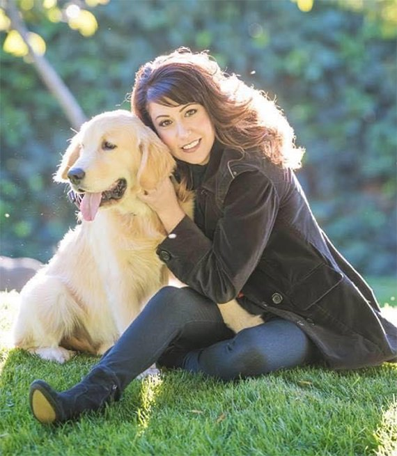 Melissa P and her dog Crosby