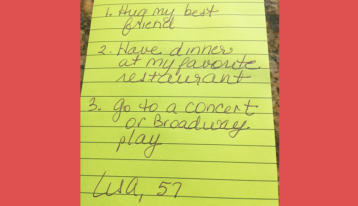item 5 of Gallery image - lisa age fifty seven wants to hug her best friend have dinner out and go to a concert or play