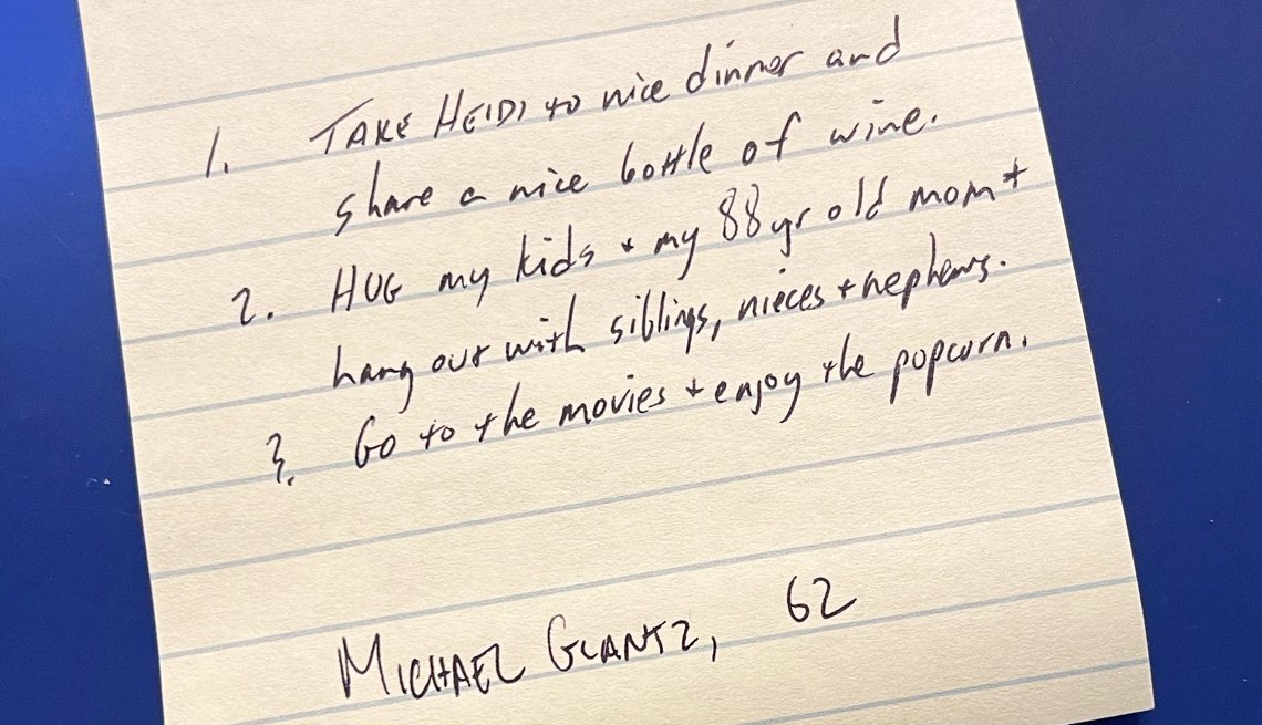 item 4 of Gallery image - michael aged sixty two wants to take his wife to dinner hug his kids and mom and go to the movies