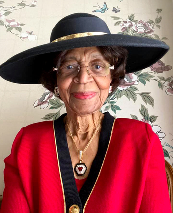 portrait of doctor laverne wimberly eighty two years old