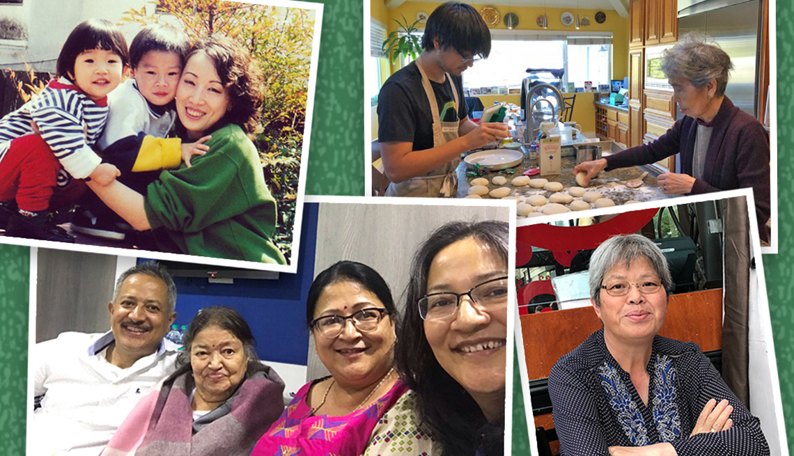 four snapshots of asian american pacific islander families of a a r p staff members