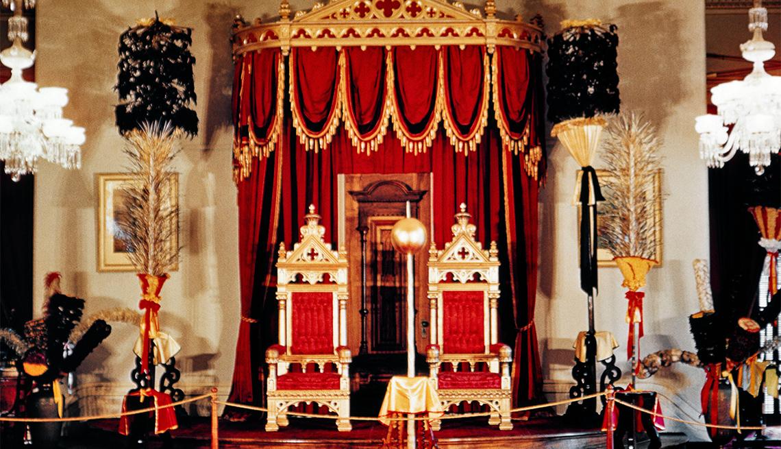 Salón del trono en el Iolani Palace