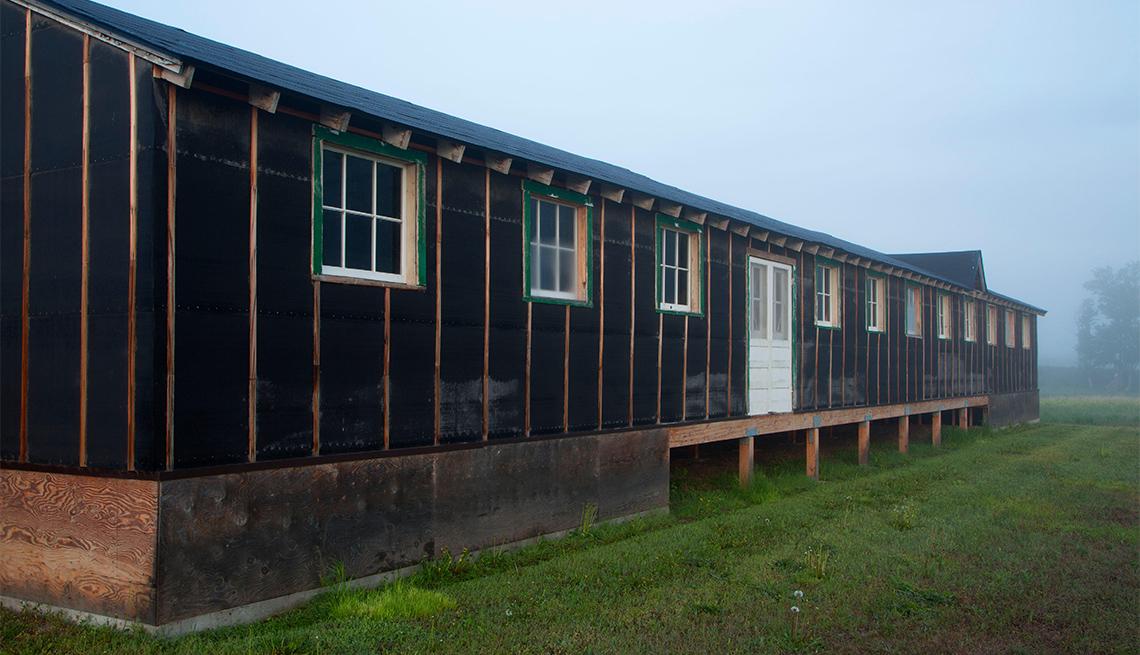 Cantina donde se alimentaba a los residentes en el Centro de Reubicación de Minidoka