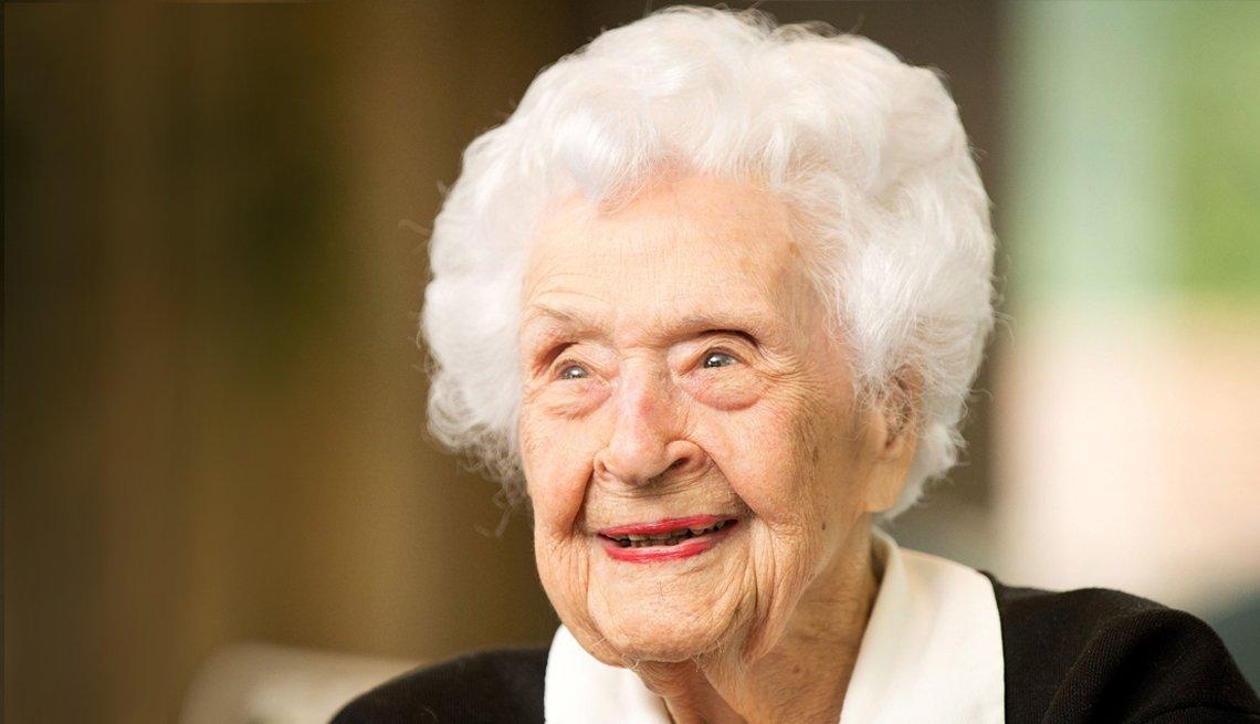 Thelma Sutcliffe a la edad de 110 en el año 2016