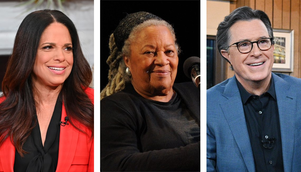 Tres fotos: Soledad Obrien, Toni Morrison y Stephen Colbert
