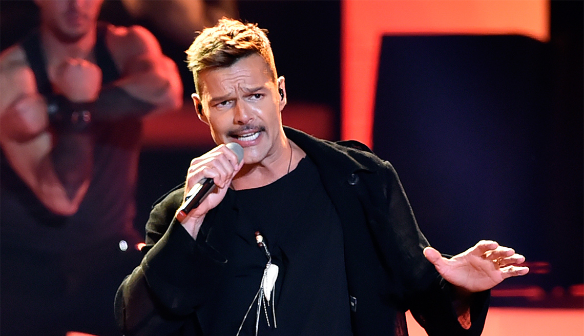 Ricky Martin performs onstage at the 2018 Billboard Latin Music Awards