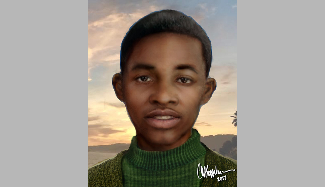 item 3 of Gallery image - portrait rendering of cold case male found in los angeles in sixty eight
