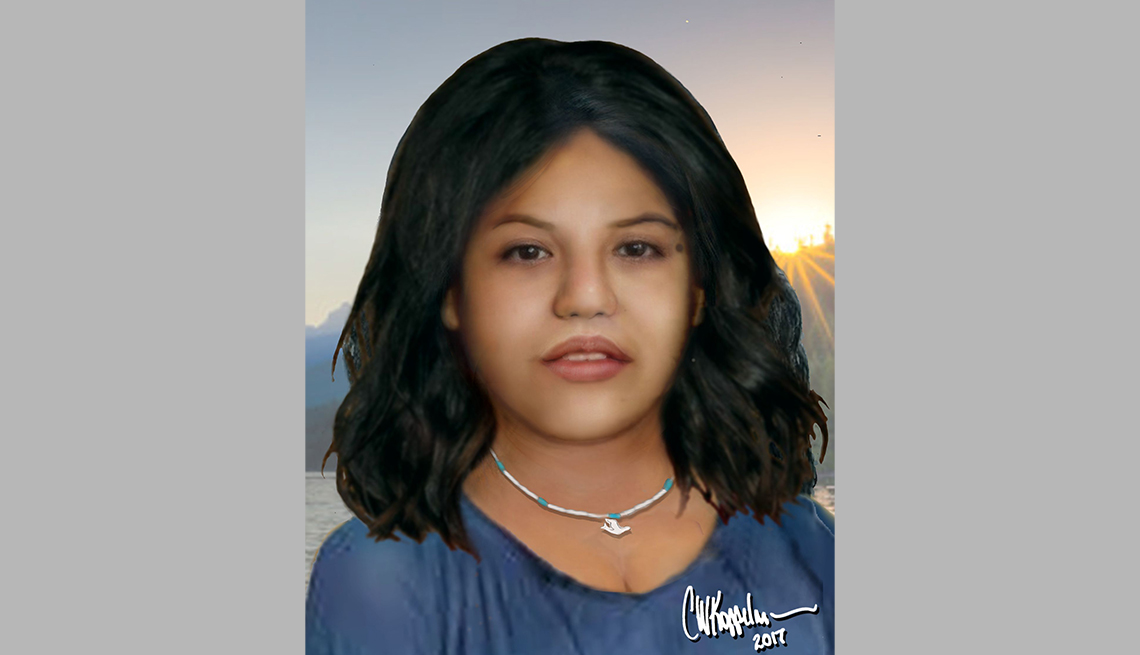 item 5 of Gallery image - portrait rendering of cold case female found in nashville tennessee in seventy six