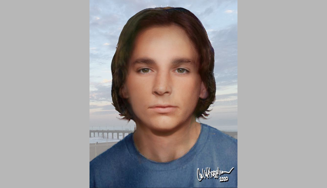 item 6 of Gallery image - portrait rendering of cold case male found in long beach in seventy eight