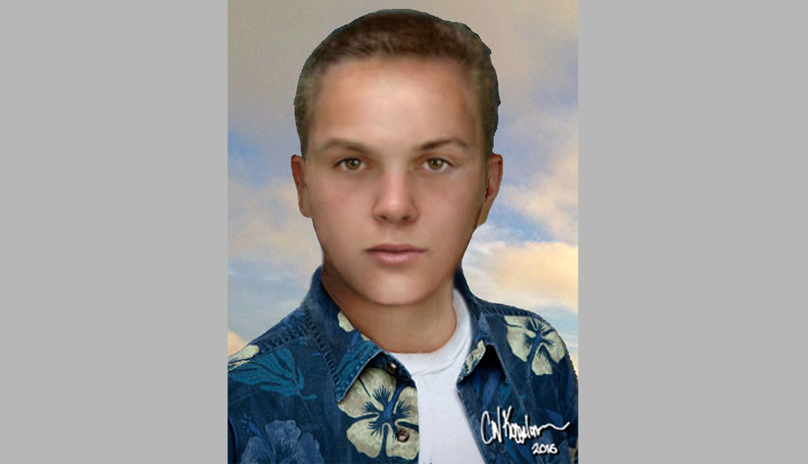 item 9 of Gallery image - portrait rendering of cold case male found in bell california in seventy nine