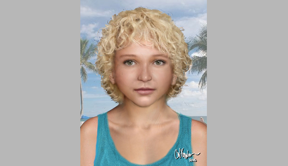 item 10 of Gallery image - portrait rendering of cold case female found in davie florida in nineteen eighty four