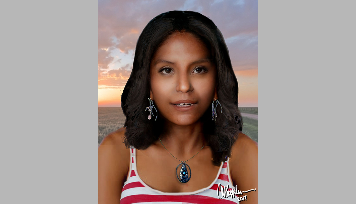 item 13 of Gallery image - portrait rendering of cold case female found in Houston Texas in eighty five