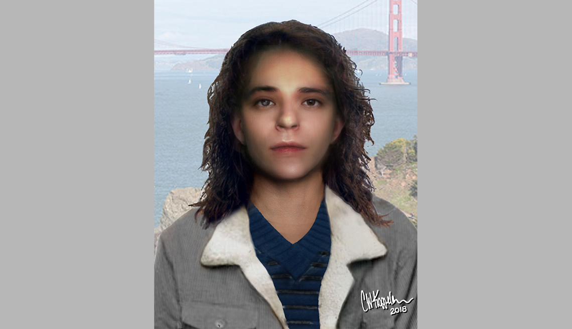 item 15 of Gallery image - portrait rendering of cold case female found in daly city california