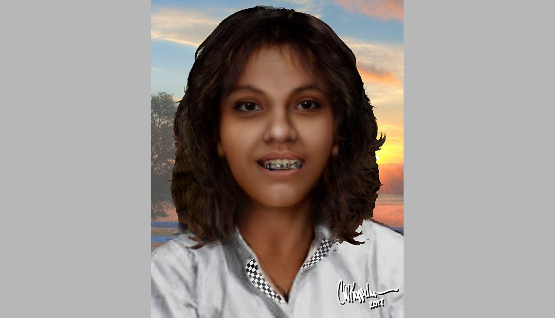 item 17 of Gallery image - portrait rendering of cold case female found in houston texas in eighty nine