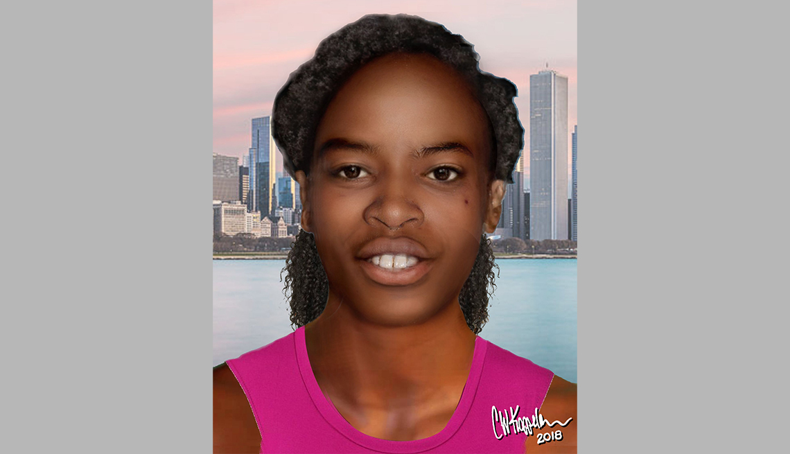 item 18 of Gallery image - portrait rendering of cold case female found in chicago in ninety four