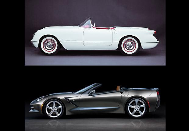 Corvette convertible - Carros clásicos de antes y de ahora