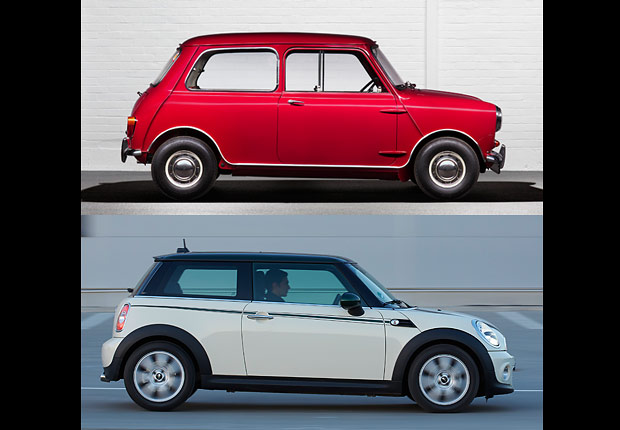 Mini Cooper, Boomer Cars Then and Now