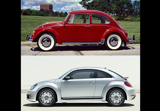 Volkswagon Beetle, Boomer Cars Then and Now