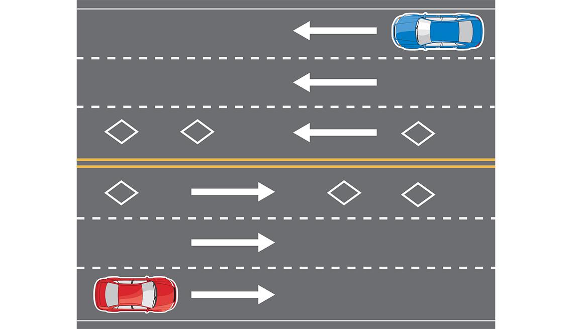 Gráfica de una carretera con dos autos transitando