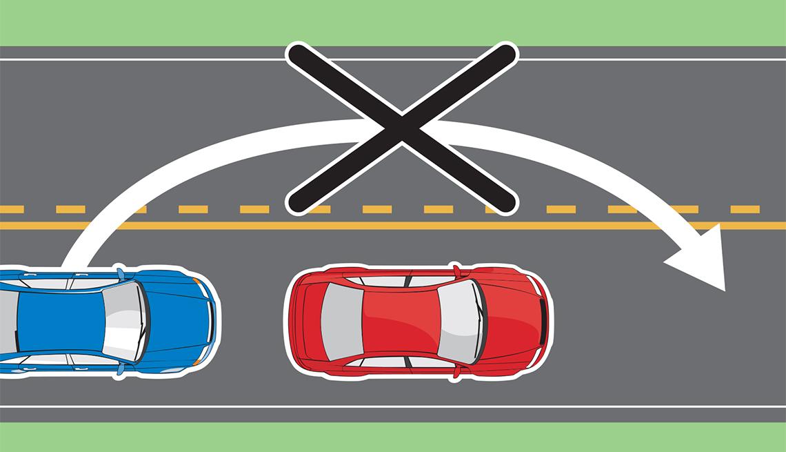 Vía dispone de marcaciones de prohibido pasar a otro vehículo