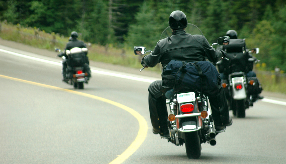 People driving motorcycles, road, Driving Resource Center