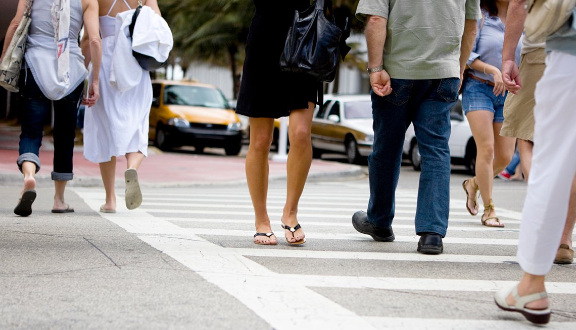 Pedestrians, walking in crosswalk, Driving Resource Center