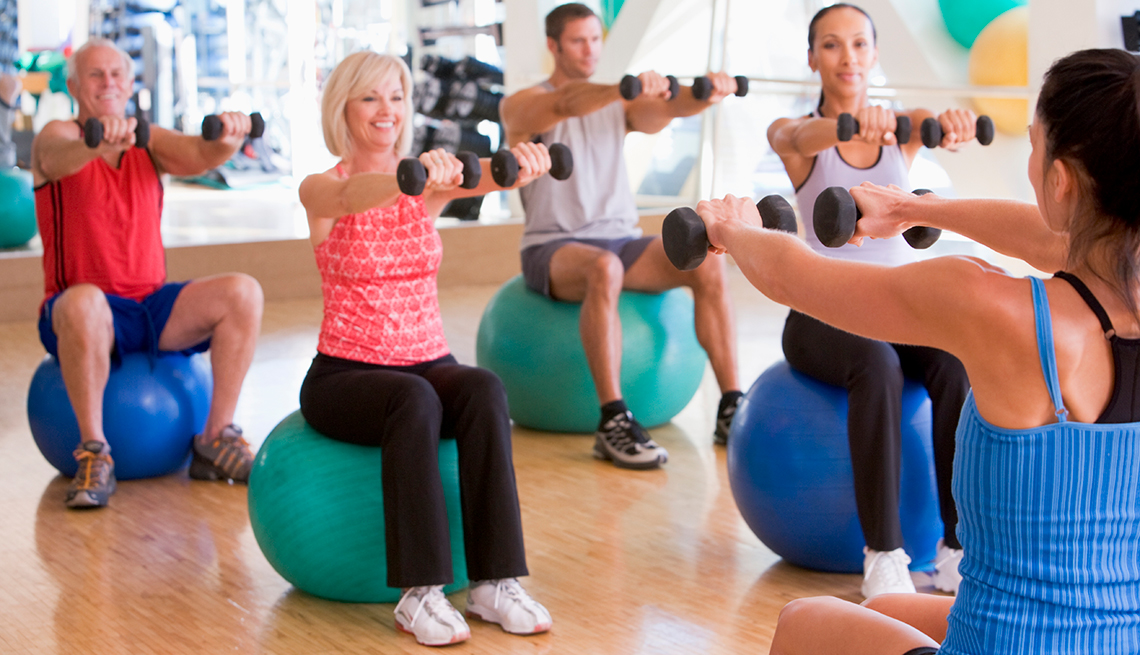 Exercise class, mature adults, Driving Resource Center