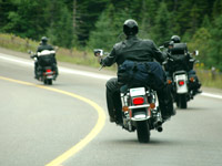 Motorcycles driving on a road, Driving Resource Center