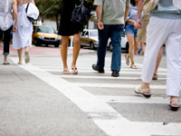 Pedestrians crossing a street, Driving Resource Center