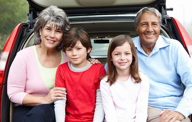 Hispanic Family, Driver Safety AARP