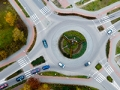 Aerial view of roundabout. Are you a smart driver?