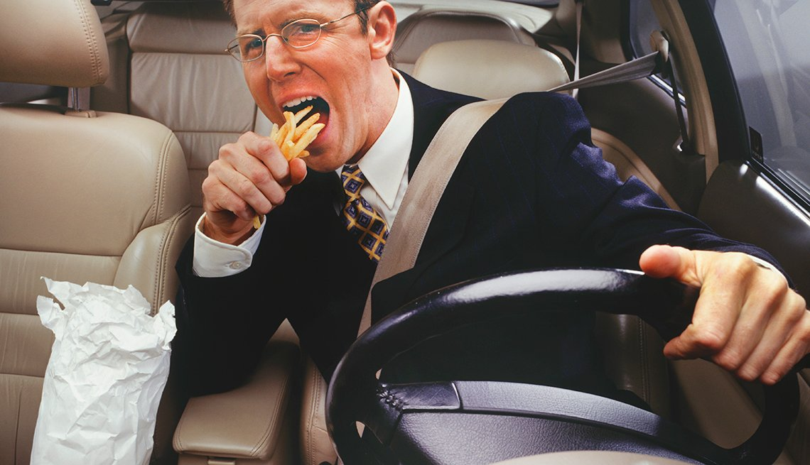 How To Reduce Driver Distraction - Don't Eat or Drink While Driving