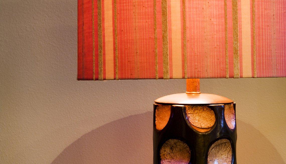 Acercamiento de una lámpara