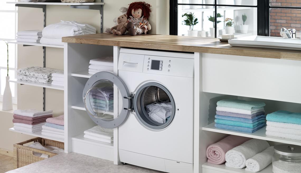 Cuarto de lavandería de una casa.