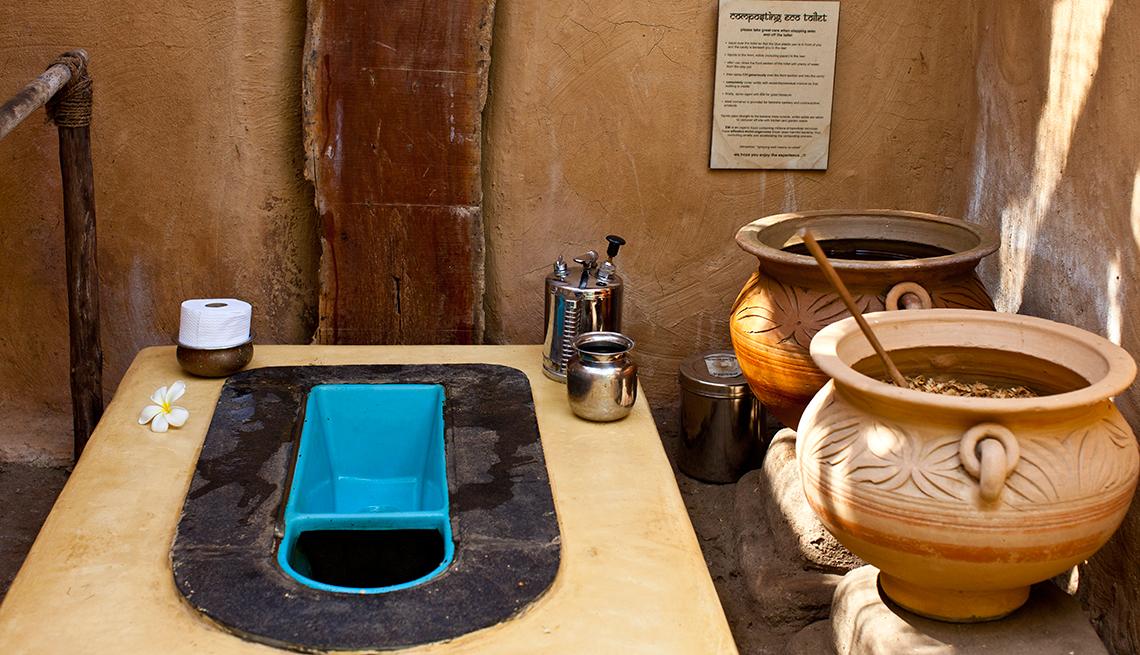 eco composting squat toilet in India