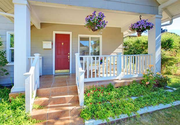 House with a colorful red door, 10 Ways to Add a Curb Appeal to your Home